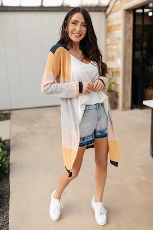 Striped Type Cardigan