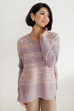 Too Soft To Handle Hooded Sweater in Lavender