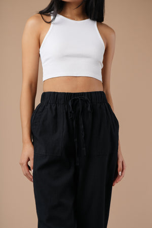 Transitions Cropped Pants In Black - DCB Size XL