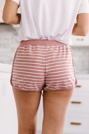 Varsity Stripes Bottoms in Rust