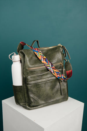 Wanderlust Backpack in Emerald