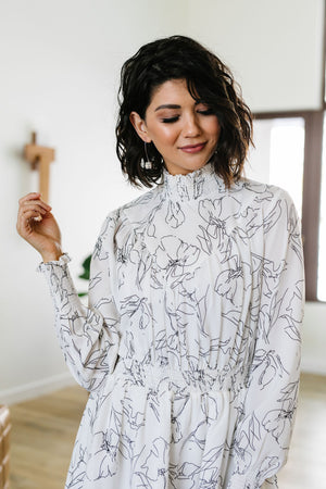 Artistic Outlines Mini Dress