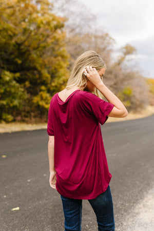 Basically Perfect V-Neck In Burgundy