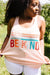 Be Kind Racerback Tank In Blush
