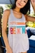 Be Kind Racerback Tank In Heather Gray
