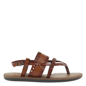 MADELINE - BON BON in BROWN SUGAR Flat Sandals
