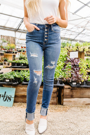 Buttons Holes & Cuffs Jeans