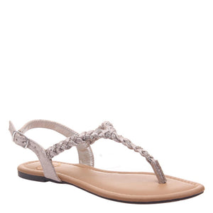MADELINE - CHARGE in ANTIQUE GOLD Flat Sandals