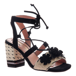POETIC LICENCE - ENTWINED in BLACK Heeled Sandals
