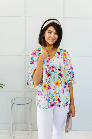 Falling Flowers Blouse