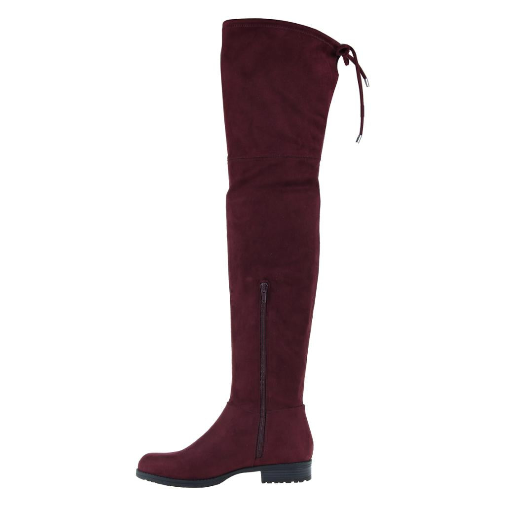 MADELINE - FOLK TALE in RASPBERRY Over The Knee Boots