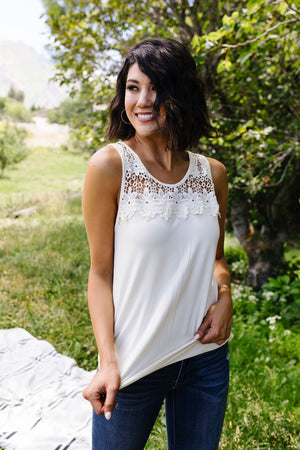 Lace & Shoulders Above The Rest Top - DCB Size Large