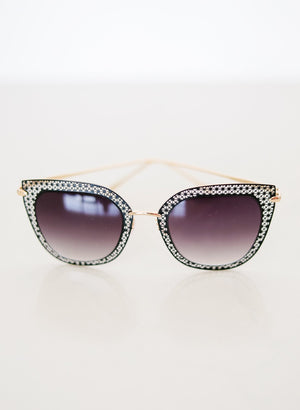 Latticework Cat Eye Sunglasses