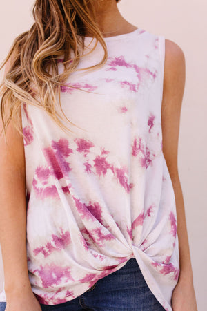 Mauve Tie Dye With A Twist Tank