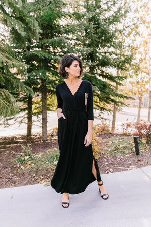 Maxed Out Black Maxi Dress