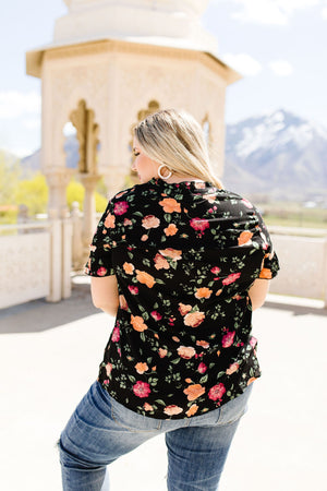 Nighttime Blooms Blouse