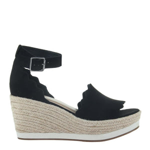 MADELINE - PHANTASTES in BLACK Wedge Sandals