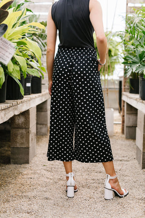 Polka Dot Gaucho Pants - DCB Size Large & 2XL