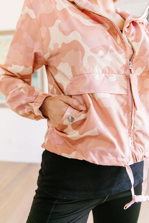 Pretty In Pink Camo Windbreaker