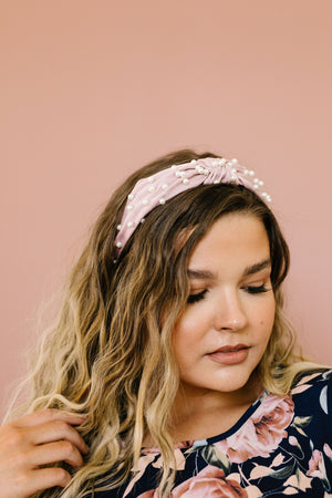 Pretty In Pink Pearl Headband