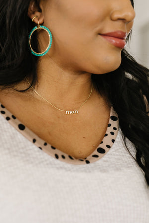 Rhinestone Mom Necklace