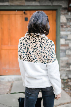 Snow Spots Fleece Pullover