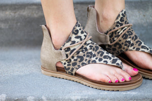 Very G Sparta Sandals in Leopard