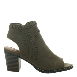 MADELINE - STARSTRUCK in OLIVE Open Toe Booties