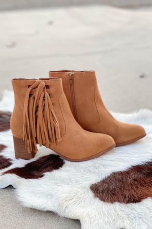 Matisse Stroll Thru Booties in Cognac