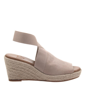 MADELINE - SUNNY DAY in MEDIUM TAUPE Wedge Sandals