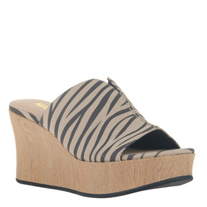 MADELINE GIRL - THROWBACK in CHESTNUT Wedge Sandals