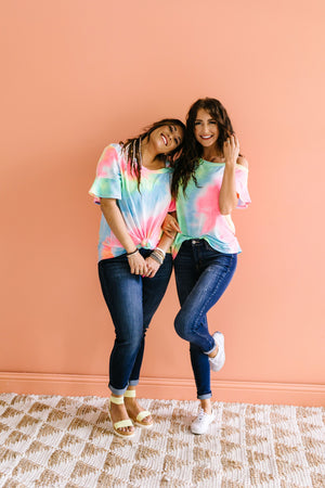 Tie Dyed Rainbow Top
