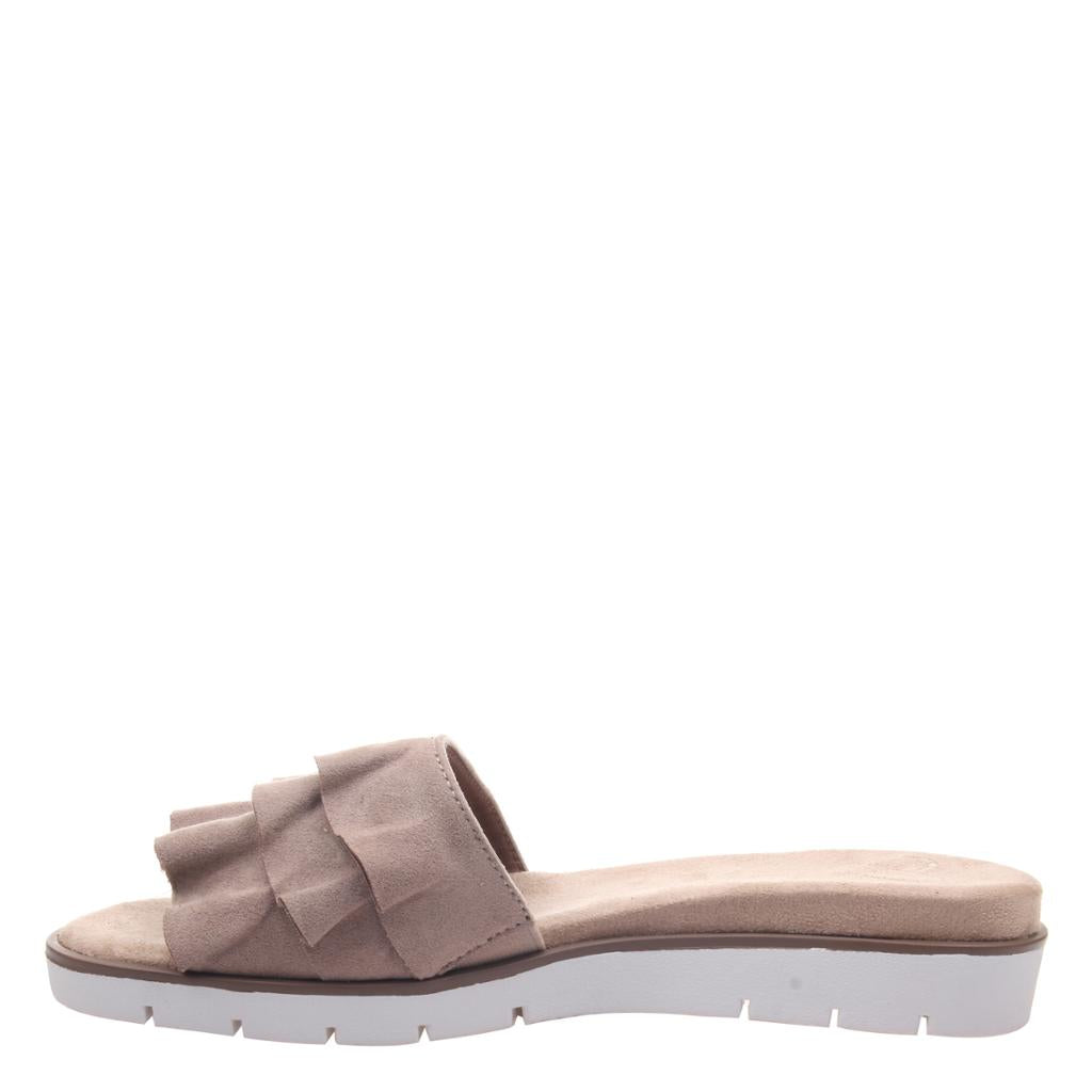 MADELINE - TOODLES in MEDIUM TAUPE Flat Sandals