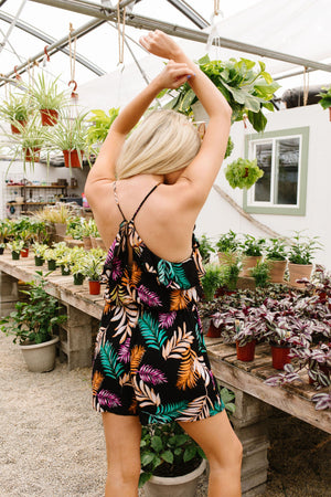 Tropic Palms Romper