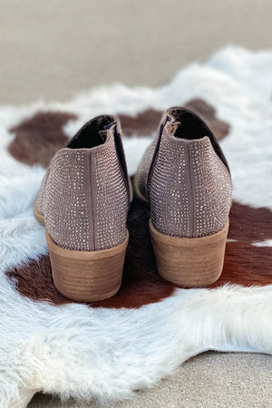 Very G Crystal Shoes in Taupe