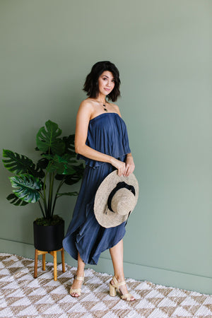 Wild Child Mineral Wash Jumpsuit In Midnight