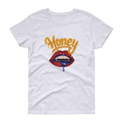 Honey Lips (White) - Women's short sleeve t-shirt