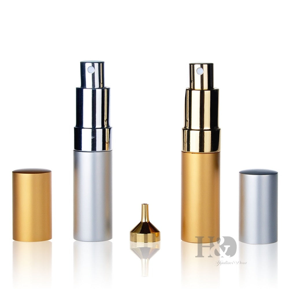 15ml Gold&Silver Spray Empty Perfume Atomizer perfume bottle