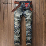 European-style American fashion designer brand jeans men's luxury casual jeans