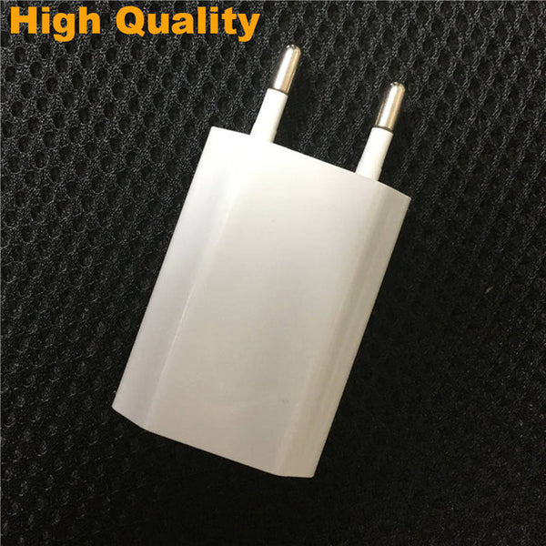 Original GXE Travel USB Wall Charger for iPhone 8 Charger XS Max XR 7 Plus X 8 SE 5 5s 6 6s EU Plug + 8 pin Data Sync Cable Wire