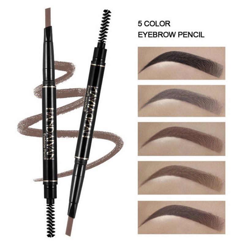 Waterproof Smudge-proof Brow Pencil with Brow Brush Makeup Automatic Eye Brow Make Up Women