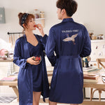 Lovers Casual Sleepwear Loose Robe Summer Men Women Home wear Nightgown