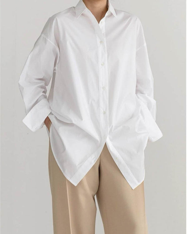 Sanna NY Oversized Cotton Shirt White