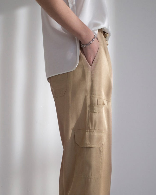 Silky Cargo Trousers