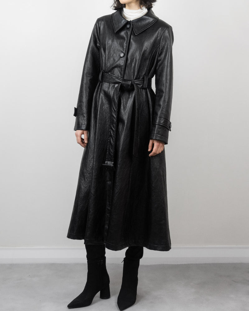 Sanna NY A-Line Leather Trench
