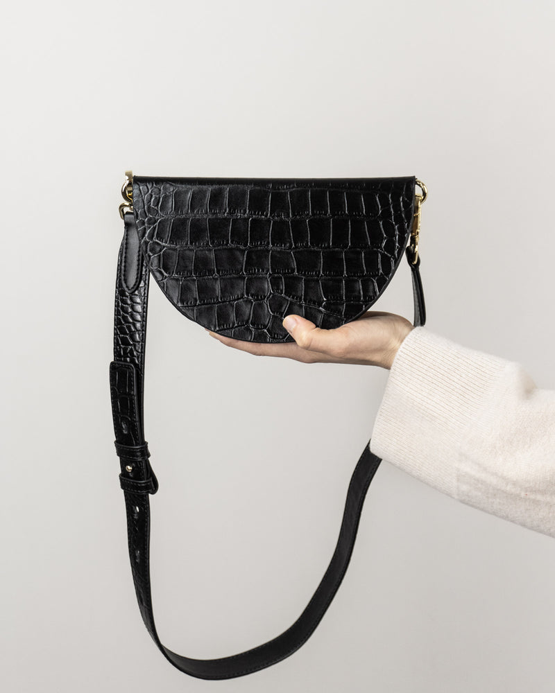 Sanna NY Leather Croc Crossbody