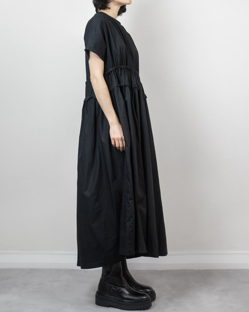 Beck Pleated Dress Black