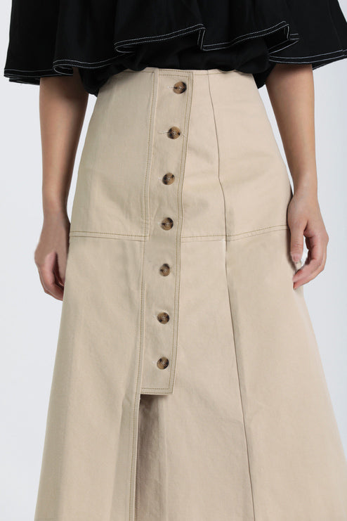 Blaire Button Skirt