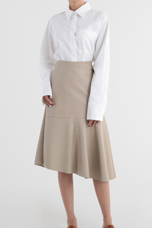 Cari Faux Leather Midi Skirt