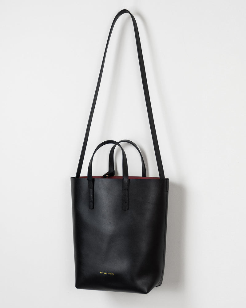 Leather Contrast Mini Tote